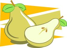 Pears stock illustration