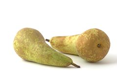 Pears. Two pears on the background Stock Images