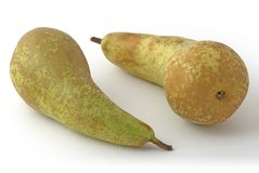 Pears. Two pears on the background Royalty Free Stock Photos