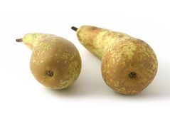 Pears. Two pears on the background Stock Photo