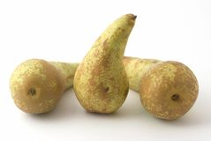 Pears. Green pears on the background Stock Photos
