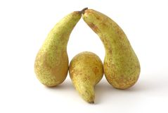 Pears. Green pears on the background Royalty Free Stock Photos