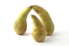 Pears. A few pears on the background Stock Images