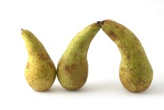 Pears. As the abstract shape Royalty Free Stock Image