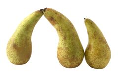 Pears. A few pears isolated over white Stock Images