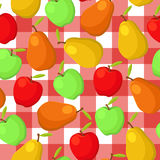 Pears And Apples Seamless Pattern Stock Images