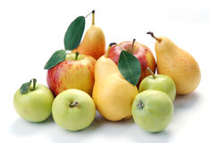Pears and apple Royalty Free Stock Photography