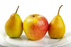 Pears and apple Stock Photos