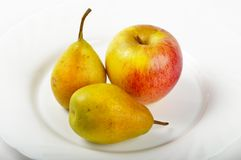 Pears and apple Stock Photography