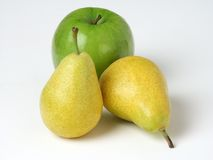 Pears & Apple royaltyfri bild