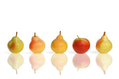 Pears and apple fruits Stock Photo