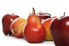Pears & apples Stock Image