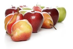 Pears & apples Stock Photography