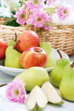 Pears and apples Stock Photo