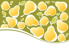 Pears and apples background Stock Photo