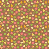 Pears and apples harvest ornament Stock Images