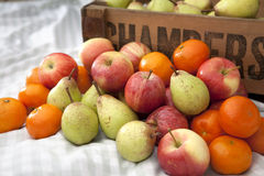 Pears, apples and oranges Royalty Free Stock Images