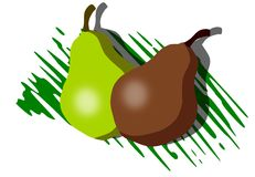 Pears background Stock Images