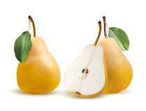 Pears bartlett  on white background Royalty Free Stock Photography