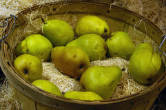 Pears on basket Royalty Free Stock Photo