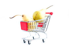 Pears in basket Stock Images