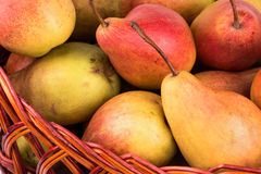 Pears in a basket Royalty Free Stock Photography