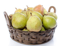 Pears in a basket Royalty Free Stock Images