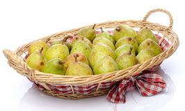 Pears in a basket Stock Image