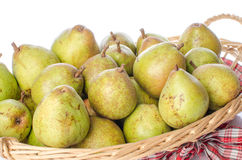 Pears in a basket Royalty Free Stock Photo