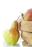 Pears in the basket Stock Photo