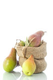 Pears in the basket Royalty Free Stock Images