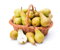 Pears in basket Royalty Free Stock Image