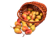 Pears in a basket Stock Photography