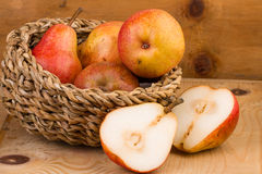 Pears in Basket still life Royalty Free Stock Photos