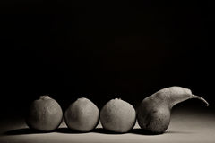 Pears on a black background Royalty Free Stock Image