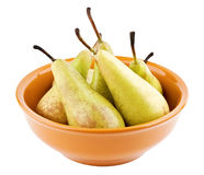 Pears in bowl Royalty Free Stock Images