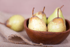 Pears in the bowl Royalty Free Stock Photography