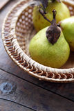 Pears In Bowl Stock Photos