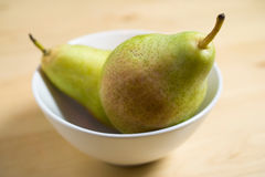 Pears in a bowl Stock Images