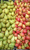 Pears bulk. Fresh food natural garden bio green and red stock image