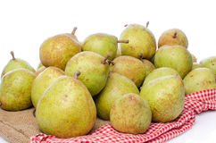 Pears on burlap Royalty Free Stock Photography