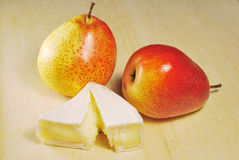 Pears & camambert Royalty Free Stock Photos