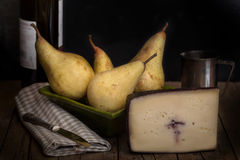 Pears And Cheese Stock Photography