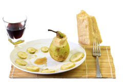 Pears and  cheese with honey Royalty Free Stock Photo