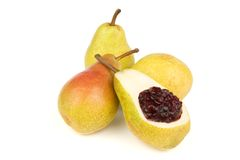 Pears and cherry jam Royalty Free Stock Image