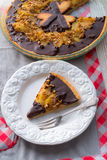 Pears chocolate tart Royalty Free Stock Photography