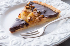 Pears chocolate tart Royalty Free Stock Image