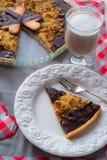 Pears chocolate tart Royalty Free Stock Image