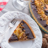 Pears chocolate tart Stock Photo