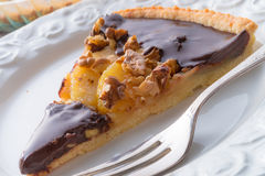 Pears chocolate tart Royalty Free Stock Images